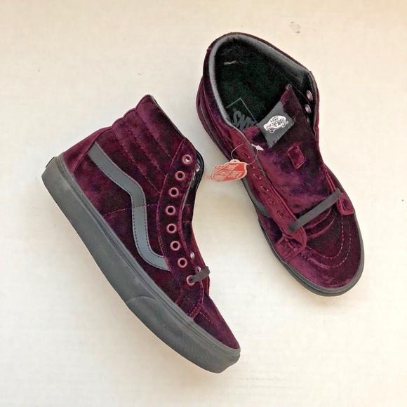 bf9b1d45f9 Vans Sk8-Hi Reissue Velvet Violet Burgundy Rare
